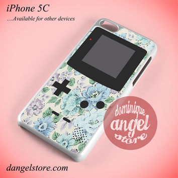 Blue Floral Gameboy Phone case for iPhone 5C and another iPhone devices