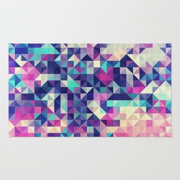 The Colors of the Summer (Minimal Triangle Pattern ) Rug by Jeanette Rietz
