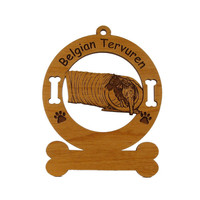 1650 Belgain Tervuren Agility Tunnel Personalized Ornament - Free Shipping