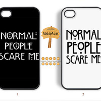5sos, Note 3 case, Normal people scare me, Resin phone cases, iPhone 5 case, iPhone 4 case, iPhone 5C case, Galaxy S4 case--N0002