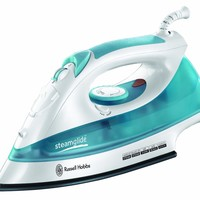 Russell Hobbs 15081 Steamglide Iron in White and Blue, 2400 W