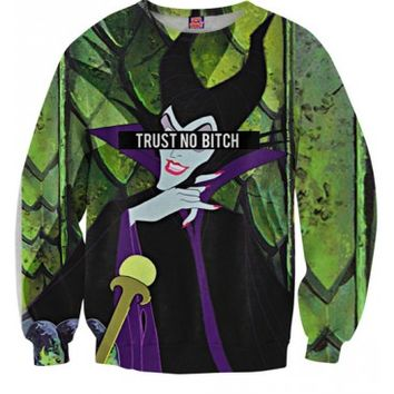 Trust No Bitch Maleficent Sweatshirt | All Over Print Shirt | EDM Shirt