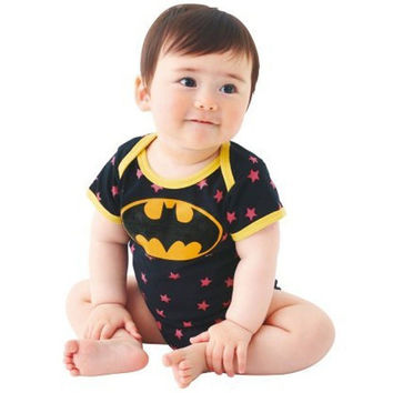 BABY NEWBORN BOY SUMMER BATMAN SUPERMAN BABYGROW ROMPER BABY CLOTHES PLAYSUITS-@n5 = 1927976452
