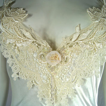 Jonquil by Diane Samandi Vintage White Long Nightgown / Neiman Marcus Lace Lingerie