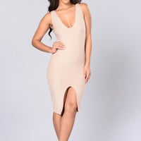 Angelica Dress - Taupe