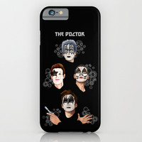 The Doctor who face painting iPhone 4 4s 5 5c 6 7, pillow case, mugs and tshirt iPhone & iPod Case by Three Second