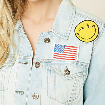 Happy Face Patch Pin Set