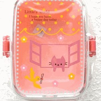 Bento Box Lunch Box for Salad Fruits Little's World Cat Kitty