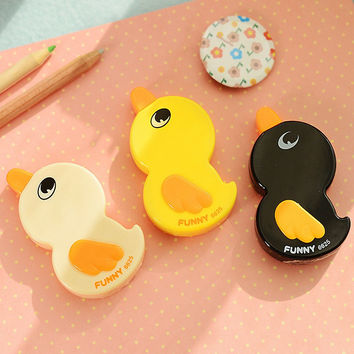 P58 Kawaii Cute Duck Correction Tape Erasers School Office Stationery Student Rewarding Gift Papeleria