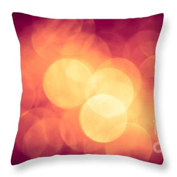 "Burning Bokeh Throw Pillow for Sale by Jan Bickerton - 14"" x 14"""