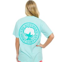 Southern Shirt Company Signature Logo T-Shirt in in Ocean Blue 3T037-OB-SS