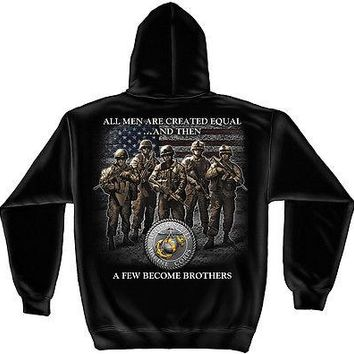 New USMC BROTHERHOOD  MARINES  HOODIE SWEATSHIRT-