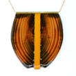 Shield Necklace with yellow