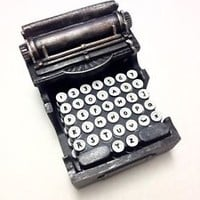 Retro Typewriter Coaster Set Furniture Protector Home Decor 5 Piece Set