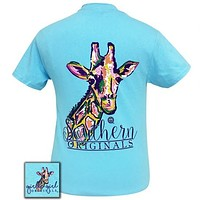 Girlie Girl Originals Preppy Watercolor Giraffe T-Shirt