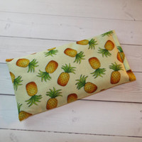 Yellow pineapples lavender Aromatherapy Eye Pillow - pillow - aromatherapy floral