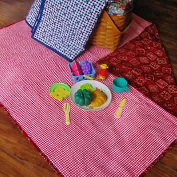 Child Picnic Blanket Quilted Blanket for Childrens Play time Picnic For Boys and Girls Birthday Gift