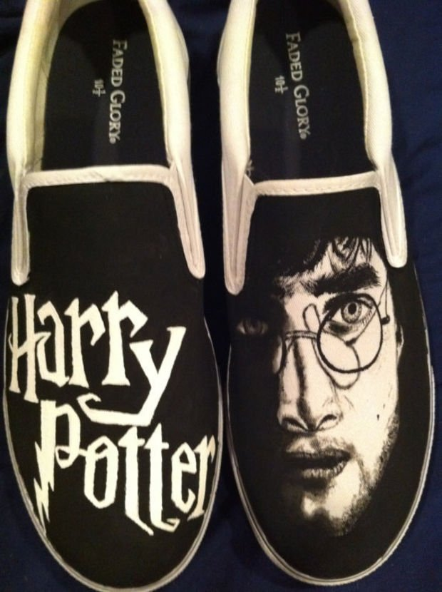 Harry Potter Painted Men's Shoes