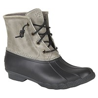 Women's Saltwater Duck Boot in Grey & Black by Sperry - FINAL SALE