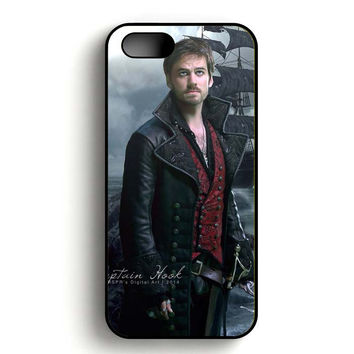 Once Upon A Time Captain Hook Digital Art iPhone 5, iPhone 5s and iPhone 5S Gold case