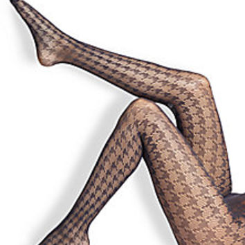Wolford - Pascale Houndstooth Tights - Saks Fifth Avenue Mobile