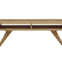Azara Tiger Coffee Table With Tiger Exotic Inlay, Caramelized
