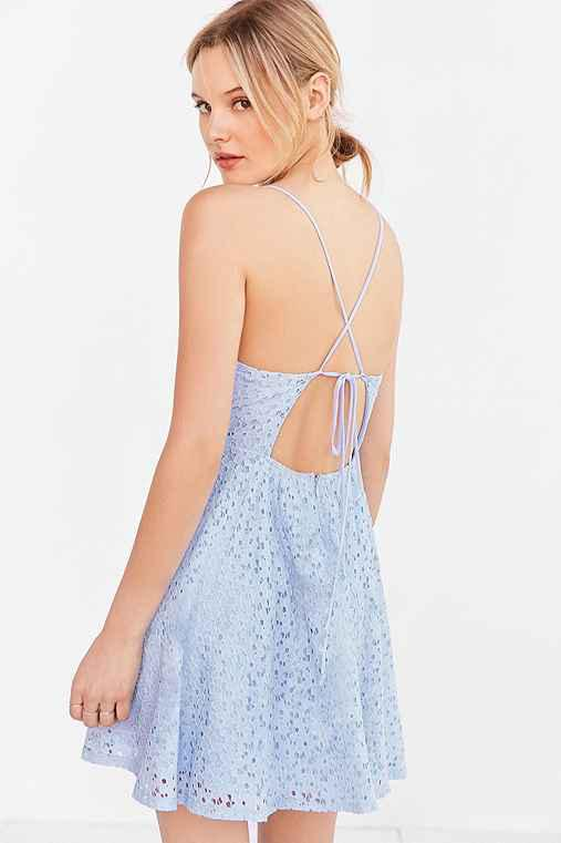 Kimchi Blue Lace Stry Back Fit Flare From Urban Outers