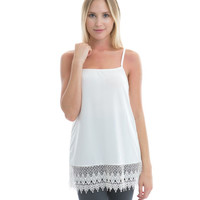 Ivory Lace Shirt Extender Camisole
