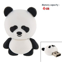 4GB Panda USB Flash Drives (White)