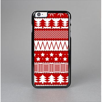 The Red and White Christmas Pattern Skin-Sert for the Apple iPhone 6 Skin-Sert Case