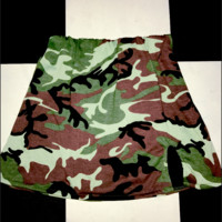 SWEET LORD O'MIGHTY! CAMO BABY SKIRT IN GREEN
