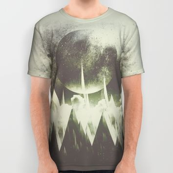 When mountains fall asleep All Over Print Shirt by HappyMelvin | Society6