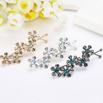 M MISM New Wave Shaped Simple Bobby Pin Five Pcs Flowers Hairpins Hair Clips Wedding Decoration Hair Accessories Hairgrip