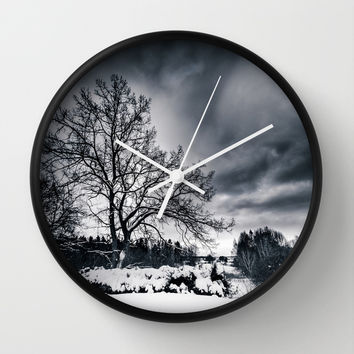 Cold winds.. Wall Clock by HappyMelvin