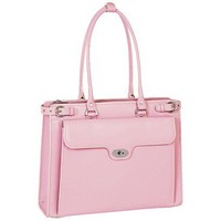 Target : McKleinUSA Winnetka Leather Ladies' Briefcase with Removable Sleeve - Pink : Image Zoom