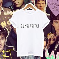 CUMBERBITCH benedict cumberbutch tshirt tee text gift ideas t shirt women tumblr fashion fangirl sherlock dr who from DOES IT EVEN MATTER