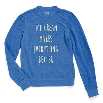 Girl's Joe's 'Ice Cream Makes Everything Better' Sweatshirt,