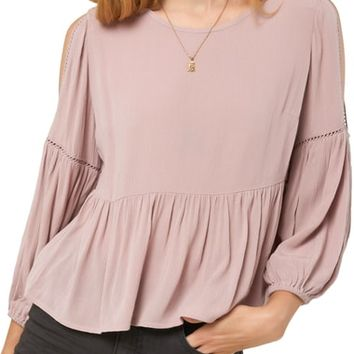 O'Neill Wonder Cutout Sleeve Top | Nordstrom