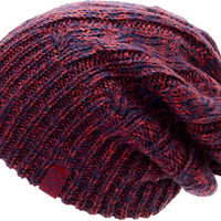 Burton Girls Bone Cobra Navy & Burgundy Reversible Beanie