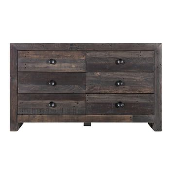 Judoc 6 Drawer Dresser Grey