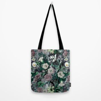 Floral Camouflage VSF016 Tote Bag by VS Fashion Studio