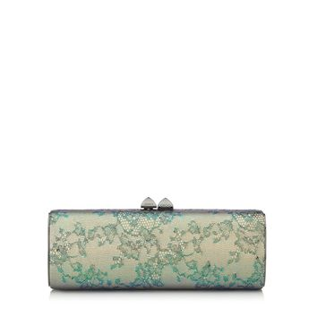 Aloe Mix Holographic Lace and Metallic Elaphe Clutch Bag | Charm | Spring Summer 15 | JIMMY CHOO Spring Summer 15