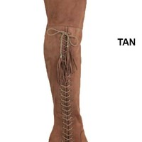OTK Lace Up Tall Boots