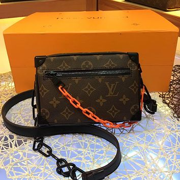 LV Louis Vuitton MONOGRAM CANVAS MINI SOFT TRUNK INCLINED SHOULDER BAG