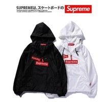 Suprem summer OFF WHITE men and women PALACE couples VLONE thin section UV protection hood sunscreen loose breathable sports jacket