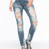 MACHINE Destroyed Womens Skinny Jeans | Skinny