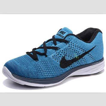 NIKE woven casual shoes light running shoes Blue(black hook)