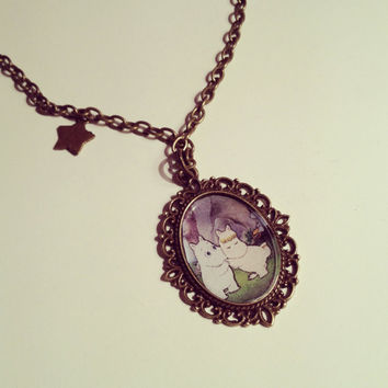 Moomin Cameo Necklace by RabbitJewellery on Etsy