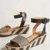 Kelsi Dagger Striped Raffia Wedges