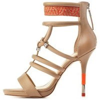 Nude GX by Gwen Stefani Woven Caged Heels